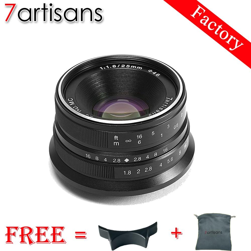 7 artisans 25mm f1.8 Premier Objectif à Tous Unique Série pour E Montage Canon EOS-M Mout Micro 4/3 Caméras a7 A7II A7R Livraison Gratuite