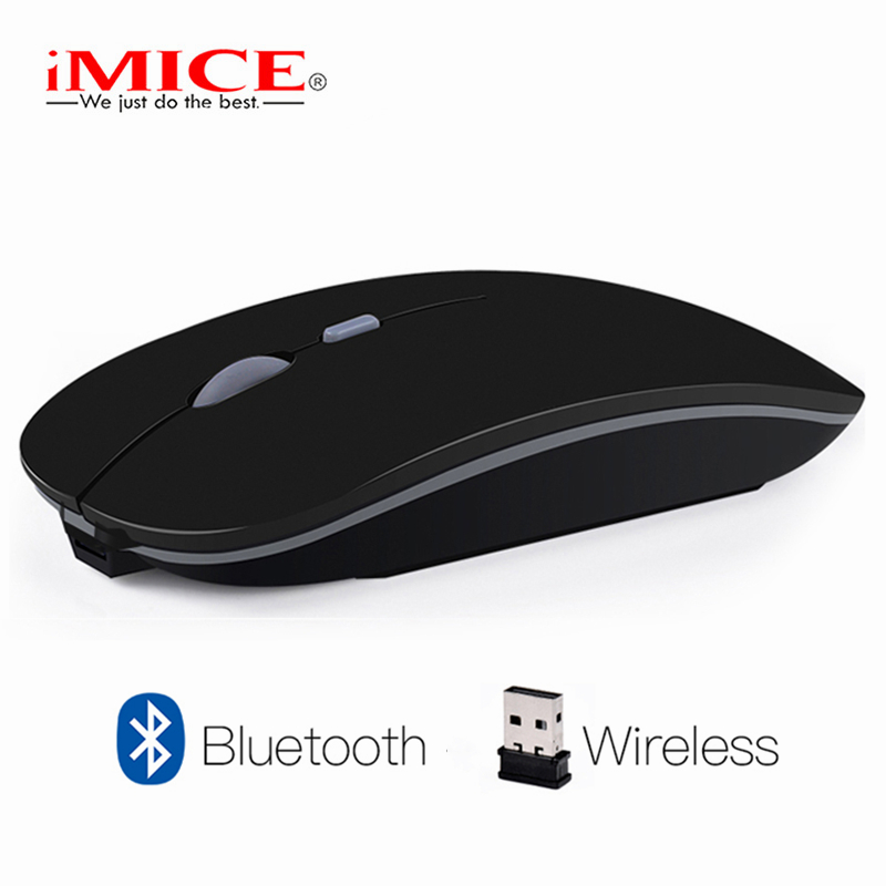 IMice Drahtlose Maus Stille Bluetooth Maus 4,0 Computer Mause Wiederaufladbare Eingebaute Batterie USB Mäuse Ergonomische für PC Laptop