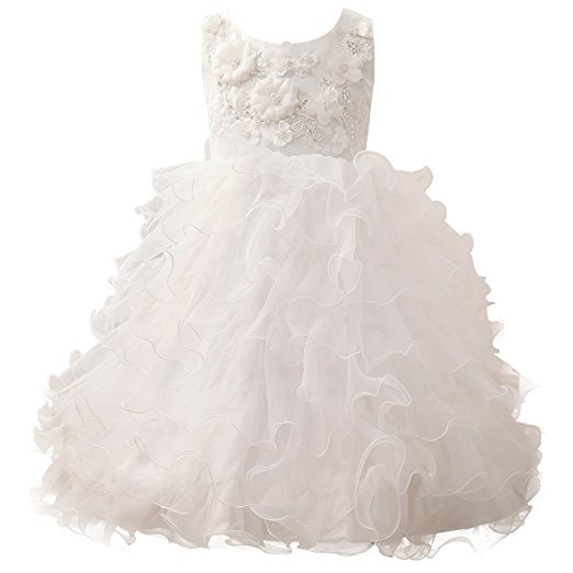 2018   Flower     Girl     Dress   Ball Gowns Sleeveless Scoop Holy Communion   Dresses