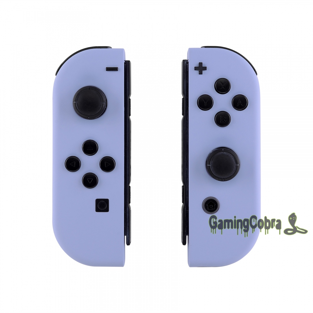 Custom Soft Touch Light Violet Controller Housing With Full Set Buttons DIY Replacement Shell Case For Nintendo Switch Joy-Con