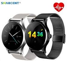 Дешевые K88H Smart часы отслеживать наручные часы bluetooth монитор сердечного ритма шагомер набора SmartWatch телефон для Android IOS смарт-часы