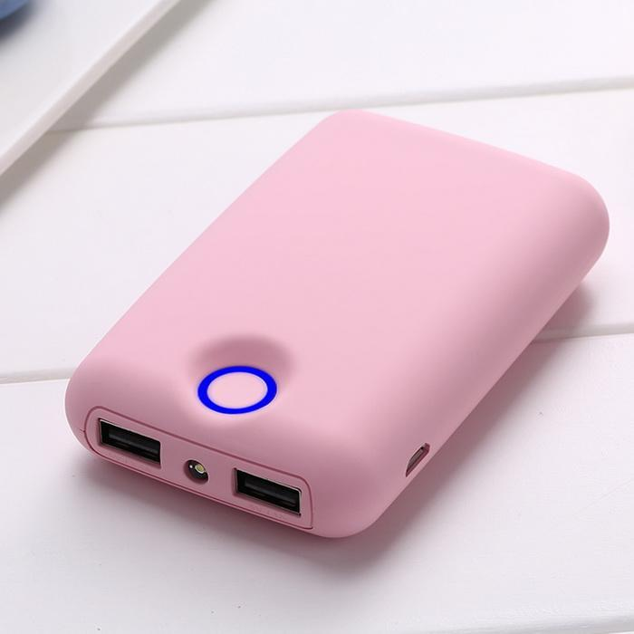 Ultra-thin Cute Mini Power Bank 18650 External PowerBank 6000mAh Outdoor Travel Battery Charger Power Supply for <font><b>Smartphones</b></font> image