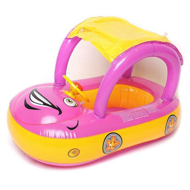 Bébé natation anneau dessin animé parasol siège cercle gonflable piscine flotteur matelas à eau Boia Piscina plage lit jouets accessoires