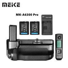 Meike MK A6300 Pro Grip ผู้ถือชุด Builtin 2.4G รีโมทคอนโทรลไร้สายสำหรับ Sony A6000 A6300 ทำงานร่วมกับ NP FW50 แบตเตอรี่
