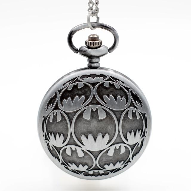 2017 New Design Batman Quartz Pocket Watch Pendant Necklace Chain Gift Men Women