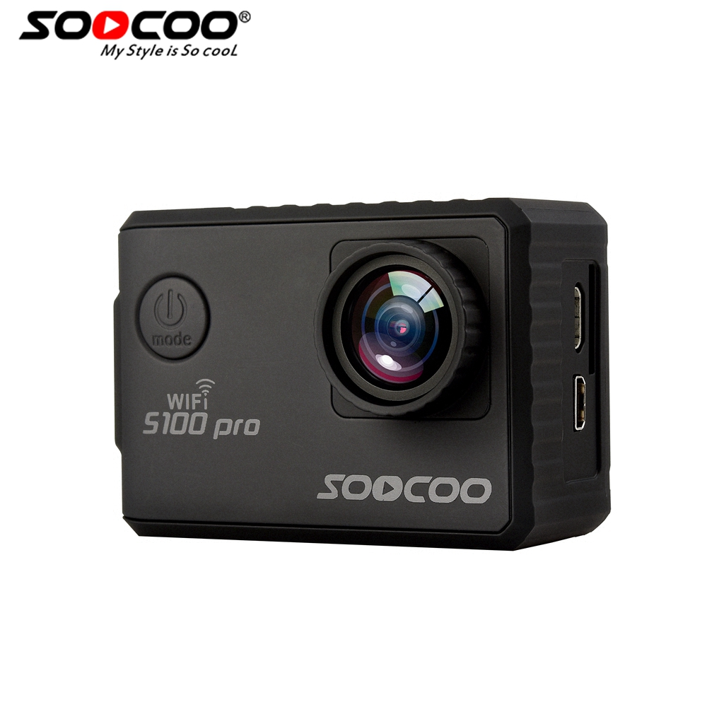 SOOCOO Voice & Remote Control S100Pro Wifi 4K Action Camera 2.0 Touch Screen with Gyro, GPS Extension(GPS Model not include) soocoo c30 sports action camera wifi 4k gyro 2 0 lcd ntk96660 30m waterproof adjustable viewing angles