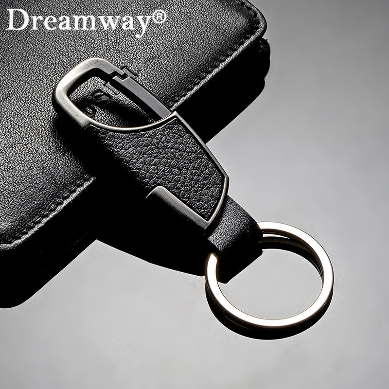 Real leather keychain business man belt buckles key chain key ring accessories birthday gift for boyfriend