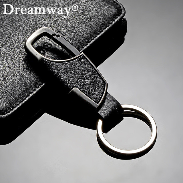 Real leather keychain business man belt buckles key chain key ring accessories b