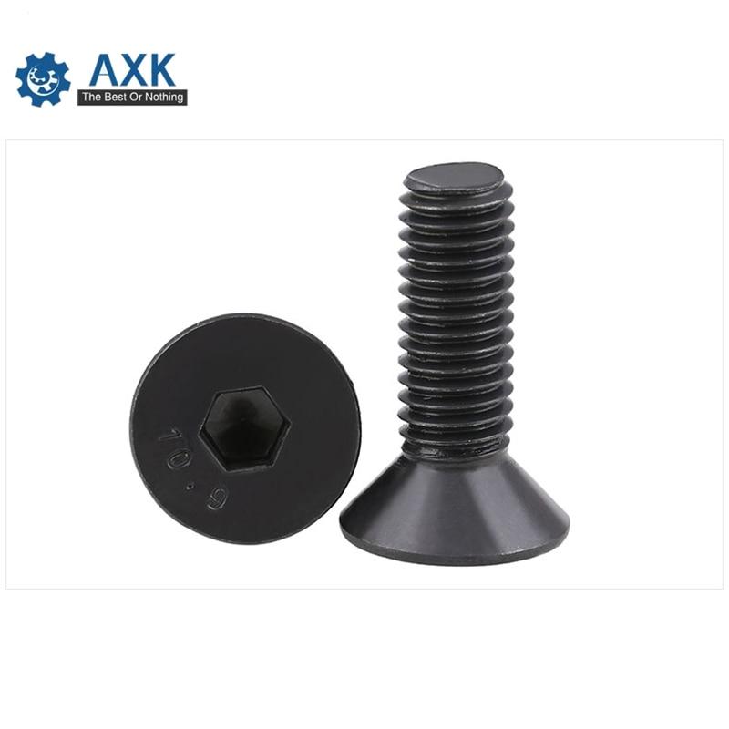 Image 4 - 50pcs M2 M2.5 M3 M4 M5 M6 M8 mm flat head countersunk head black grade 10.9 Alloy Steel Hex Socket Head Cap Screw DIN7991 Screws-in Screws from Home Improvement