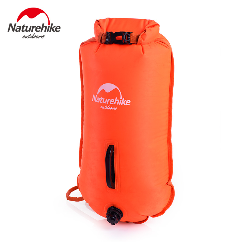 2017 Naturehike Inflatable Swimming Flotation Bag Life Buoy Pool Floaties Dry Waterproof Bag For Swimming Drifting Pink Orange orange inflatable airbag swimming upset buoy outdoor safety swim device upset inflated flotation pool open water sea lifesaving