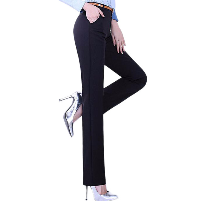 Great Quality Women suit pants Skinny OL Office Lady Autumn Spring black pencil pants Full Length high Waist Trousers Female