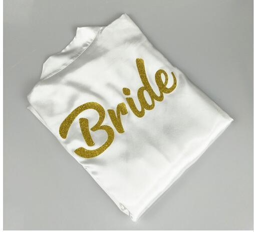 design BRIDE TEAM BRIDE Robe glitter gold letters bridal shower bride to be bachelorette bridesmaid bridal party robes