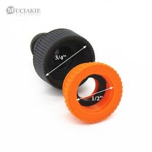 Image 3 - MUCIAKIE adaptador de tubo para manguera de riego, 2 uds., hilo femenino de 1/2 y 3/4, conector rápido, para jardín, Syst