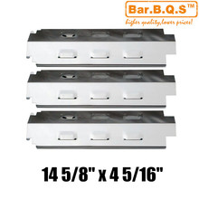 Hisencn 98741 3pcs/pk Gas Barbecue Grill Heat Tent Stainless Steel Heat Plate Shield For Charbroil 463420507,463420509 Grills