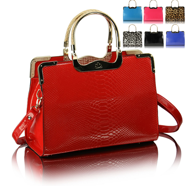 Fashion leopard print fashion motorcycle bag 2013 spring candy bag color block brief women's handbag bag