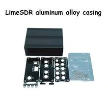Gabinete de alumínio preto capa caso escudo usb uso comum para limesdr cal sdr