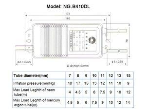 Image 2 - Fuente de alimentación de transformador electrónico, señal de neón, rectificador de luz de neón, entrada 220V, salida 10kv30ma, carga de 4 10 metros, 110W, Envío Gratis