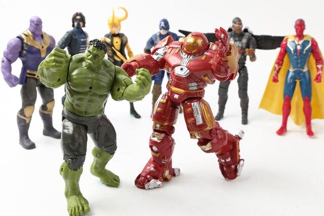 14pcs set Marvel Avengers Infinity War Thanos Iron Man Captain America Thor Hulkbuster Spiderman Black Panther