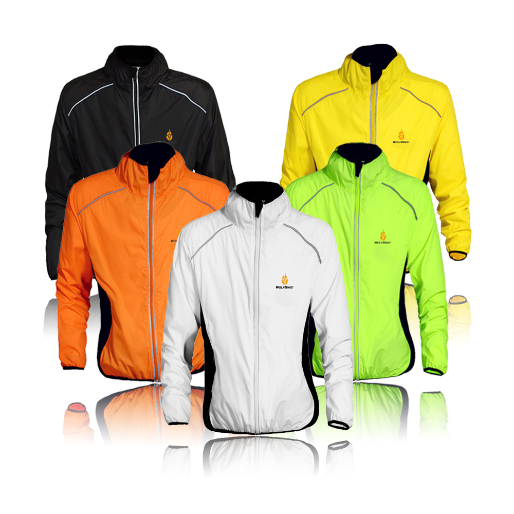 WOSAWE Tour de France Bicycle Cycling Jersey Sports Men Riding Breathable Reflective Cycle Clothing Bike Long Thin Wind Coat