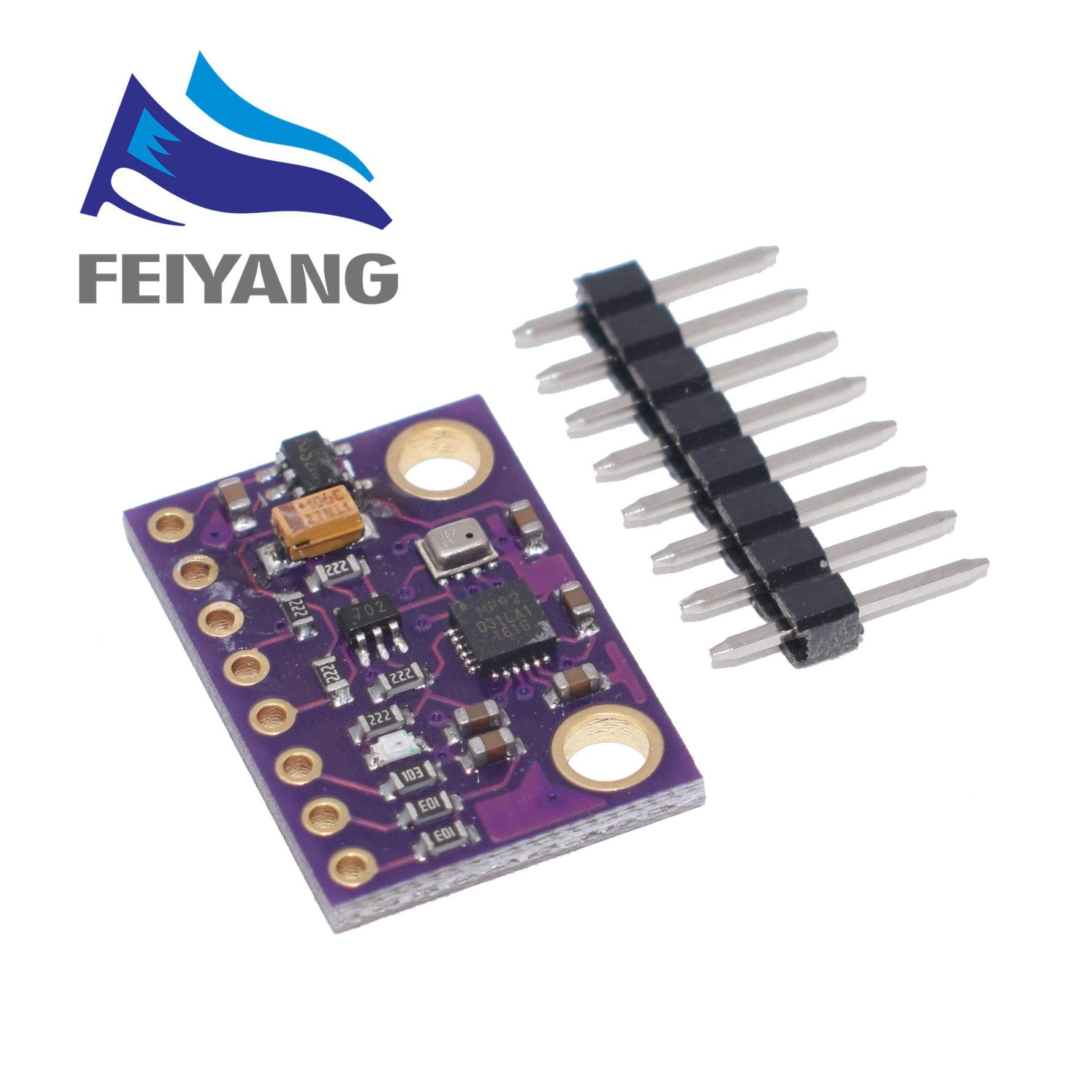 10 pièces MPU-9250 MPU9250 BMP280 SPI IIC/I2C 10DOF accélération Gyroscope boussole 9 axes capteur carte Module GY-91 pour Arduino 3-5 V