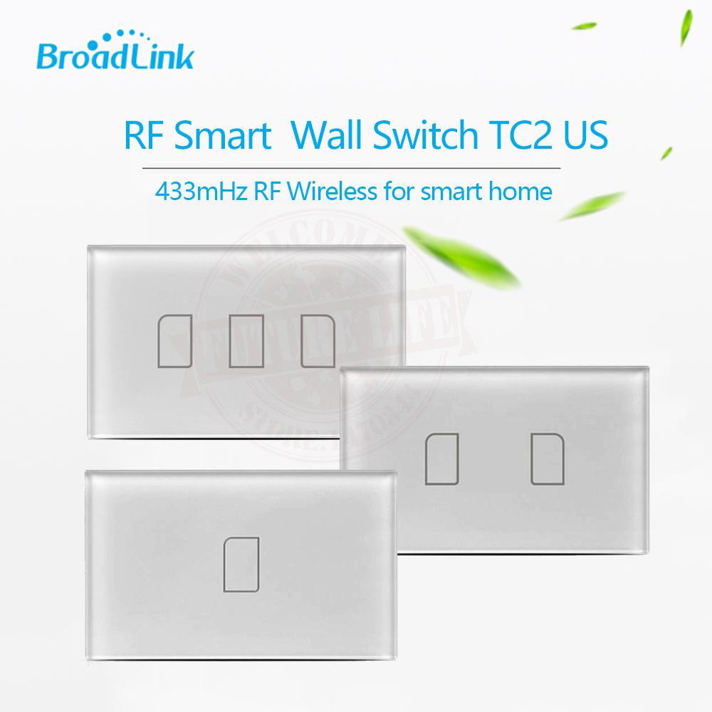 2017 Broadlink TC2 US Standard 1 2 3 Gang Wireless Wall Light Control Wifi Switch Touch Panel Switch for Smart Home Automation danish design iv15q702slbk