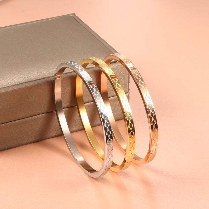 11 (1) - Brassard Breloque, Bracelet Pour Femmes, Acier Inoxydable Plaqué Or 4mm 6mm 8mm,