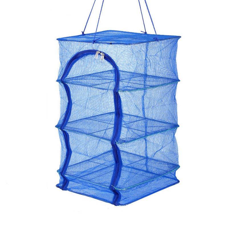 New folding drying fish net fly cage fishing dry shrimp and vegetable rack goods household tools