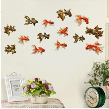 Beautiful goldfish crafts, home and restaurant wall decorations, creative Mediterranean style,