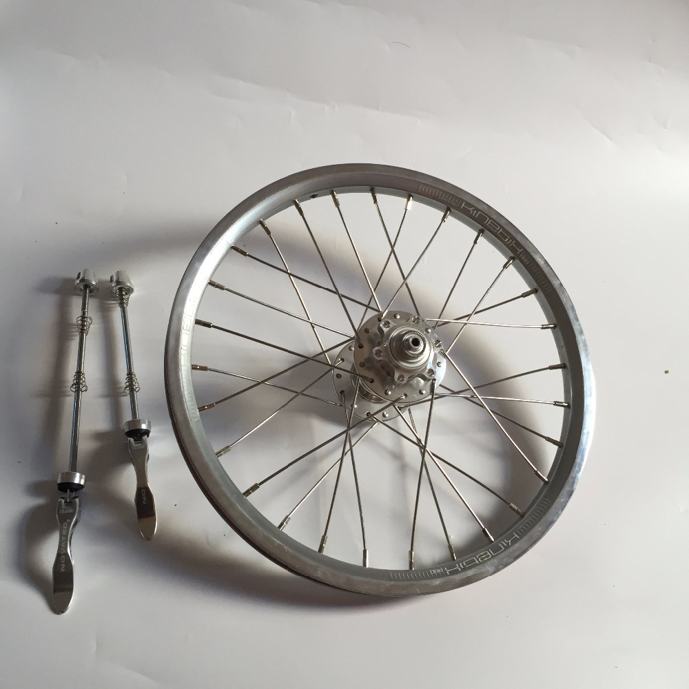 16Inch 305 BMX bike wheelset 28H DISC brake folding bike 9T 10T Wheel four bearing hub 100/135mm bmx недорого с 9 до 13 лет с передним тормозами задним