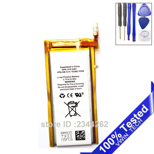 SanErqi For Nano 5 Battery Replacement for iPod Nano5 5th Gen Battery with Free Tools Brand New 3.7V Li-ion(China)