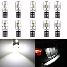 10 X CANBUS ERROR FREE White 5630 Projector Lens T10 6SMD LED Bulbs W5W 194 168