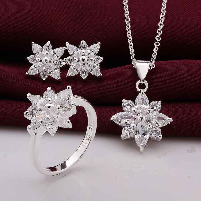 S747 925, jewelry silver plated   jewelry set, fashion jewelry set Earring 546 Necklace 581 Ring 494-8  /gwkapnra hicapzja