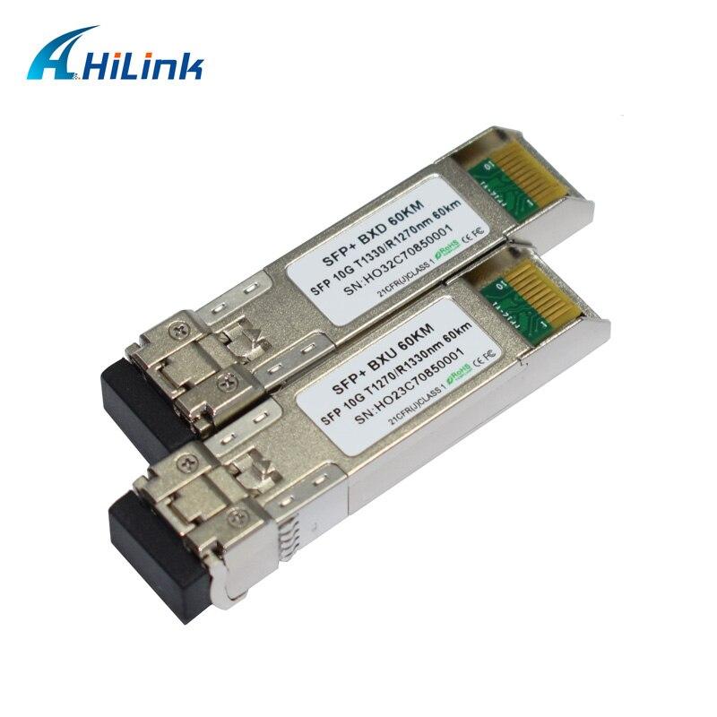 4 paires 10G SFP BiDi 60km + 5 paires 10G BIDI SFP 20KM fibres simples 1270/1330nm LC SFP modules