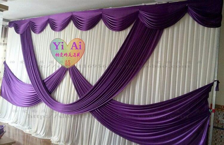 2017 этап фоне брак украшения Свадебные роскошный занавес фиолетовый свадебный этап драпировки простыня