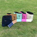 Wholesale Blanks DOMIL Scalloped Totes PU Faux Leather Purses Women Handbag for Bridesmaid with Matching Color Wallets DOM103172
