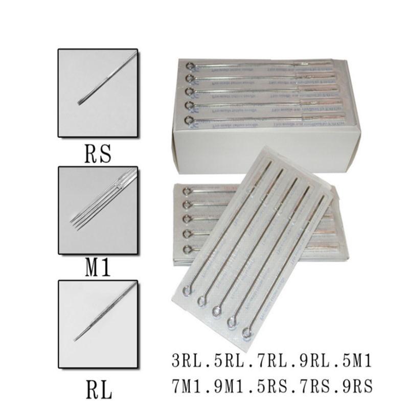 New 50pcs Assorted Sterilized Tattoo Needles Mixed 10 Sizes 3RL 5RL 7RL 9RL  5RS 7RS 9RS 5M1 7M1 9M1 Free Shipping