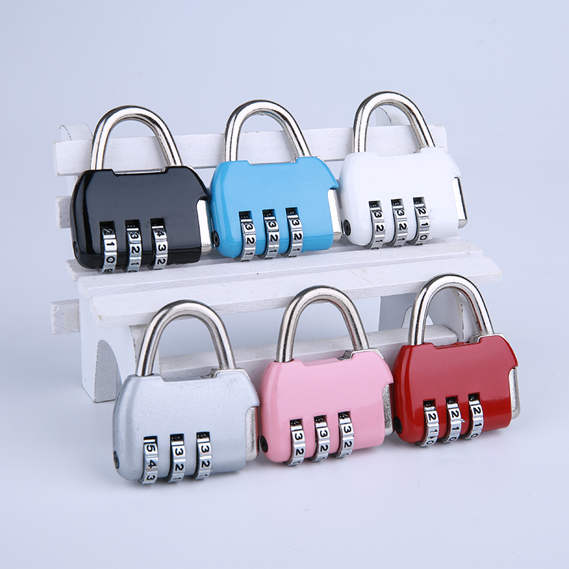 New Arrival, Mini 3 Digit Combination Travel Luggage Suitcase Backpack Handbag Code Lock Padlock.