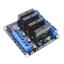 SUQ-Módulo de relé de estado sólido de alto nivel, 5V, 4 canales, OMRON SSR, para Arduino 250V2A F85