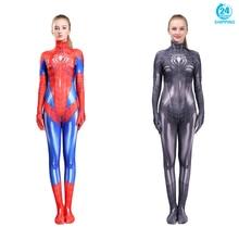 3D printing SPIDER-MJ Cosplay Costume Zentai Superhero Bodysuit Suit Jumpsuits SPIDERwomen