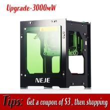 Upgrade NEJE DK-8-KZ 3000mW Professional Automatic DIY Desktop Mini CNC Laser Engraver Engraving Wood Cutting Machine Router