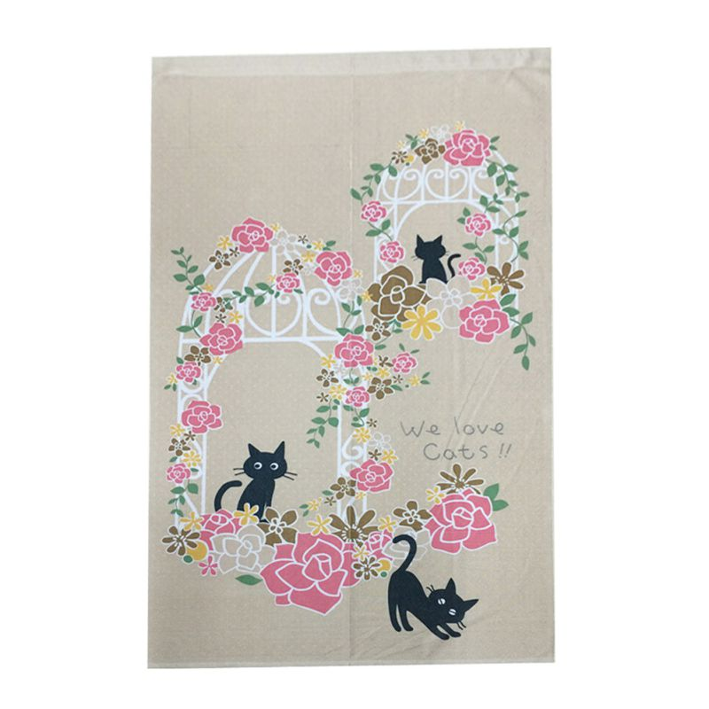 85X150CM Door Curtain Blossom Cherry Sakura And Little Dog Noren Doorway  Curtain Decorative 85X150cm In Blinds, Shades U0026 Shutters From Home U0026 Garden  On ...