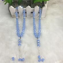 Бесплатная доставка голубой цвет togther молитвенный бусины 5pcs / Lot Кристалл шарик