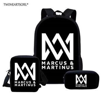 98cf3d022e1b Twoheartsgirl школьные сумки для подростков мальчиков и девочек Маркус и  мартинус модная детская школьная сумка Начальная школа для мальчиков Ми..