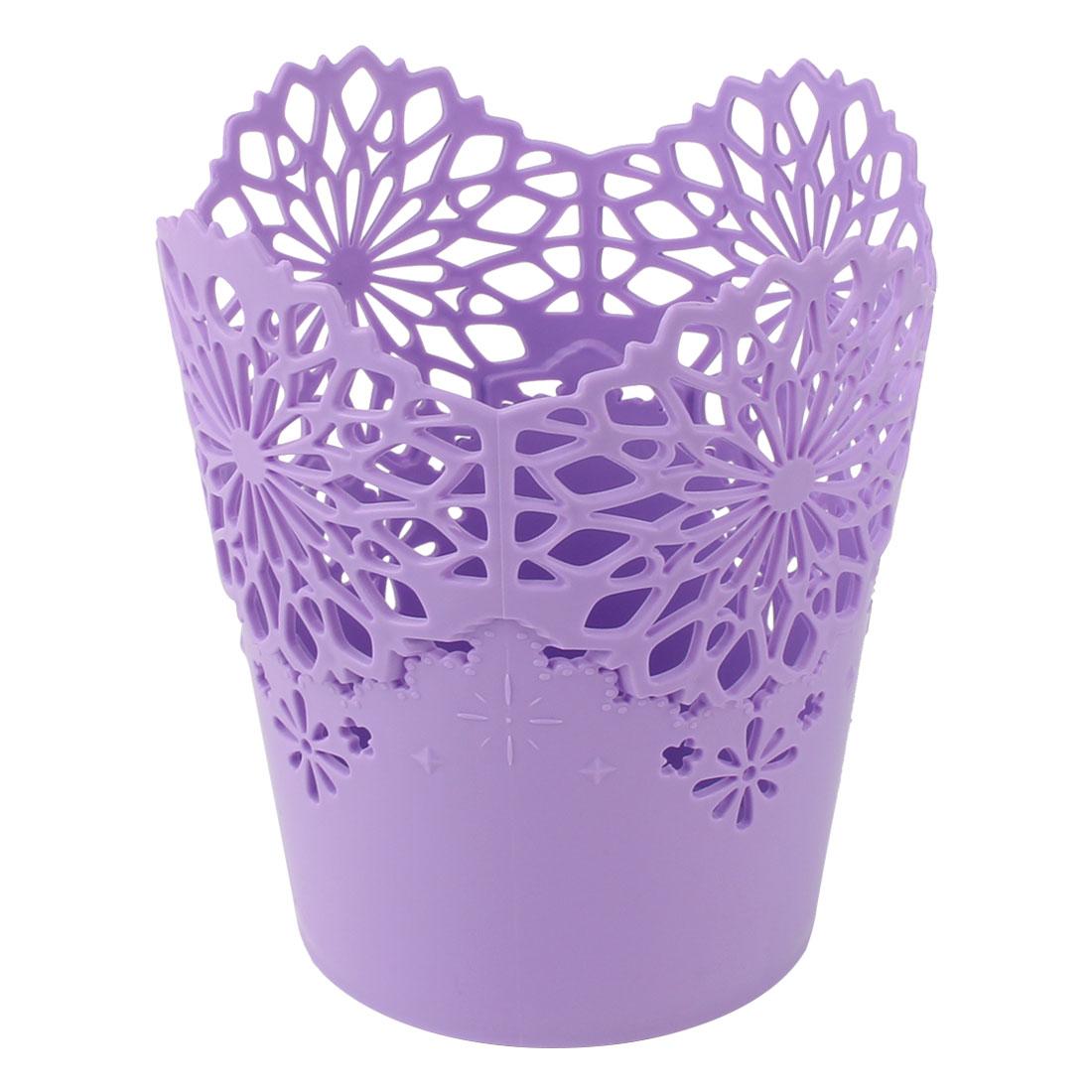 Uxcell Plastic Cylinder Home Office Wastepaper Basket Rubbish Bin