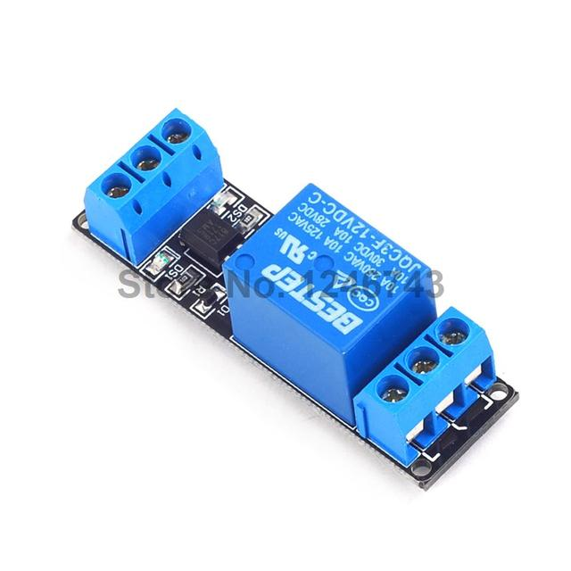 US $11 55 18% OFF|10PCS Relay 1 Channel 12V Relay Module Optocoupler  isolation low level trigger for Arduino ARM PIC AVR DSP-in Relays from Home