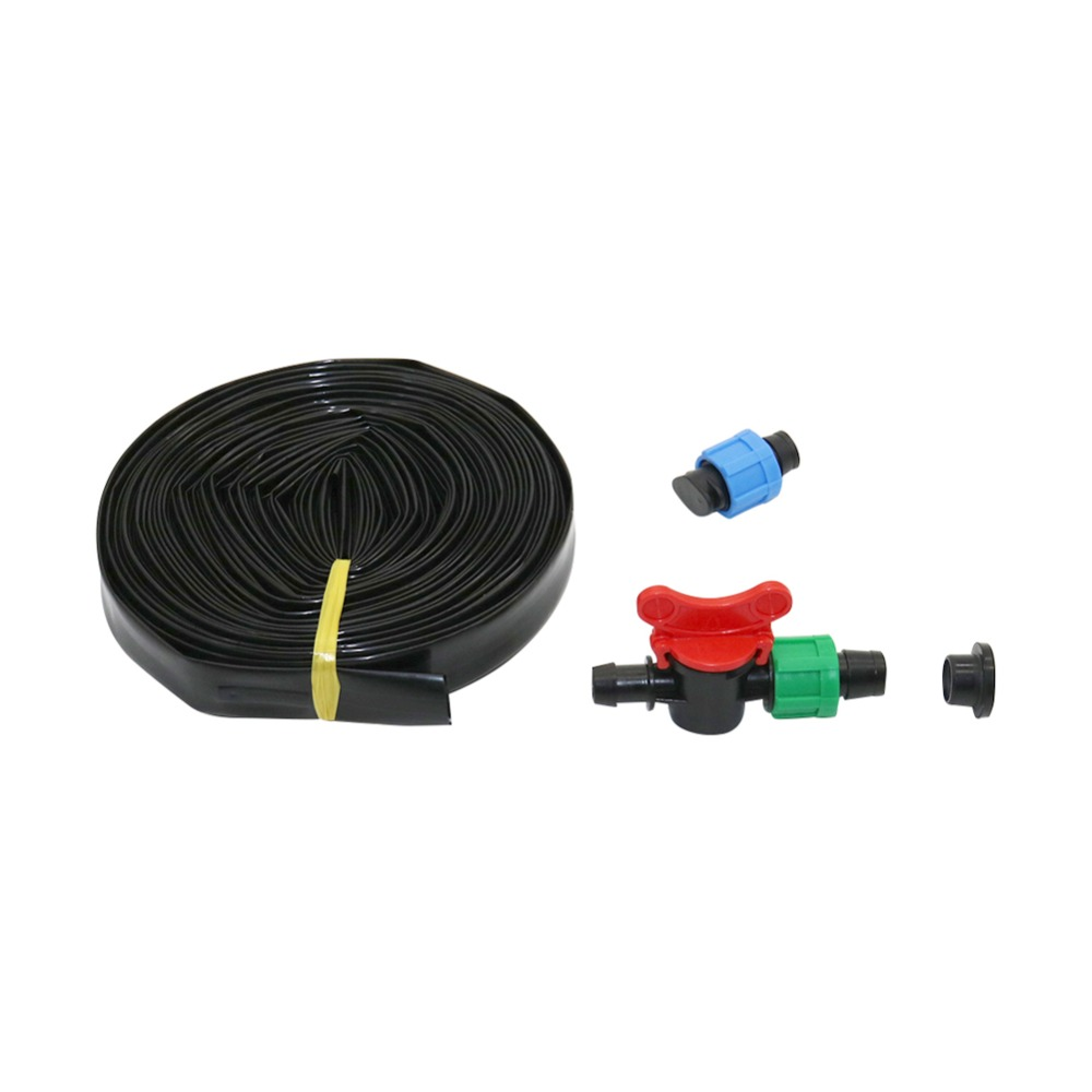 Agriculture 16mm Drip Tape Kit Drip Irrigation Belt Watering System Flat Streamline Soaker Hose 15/20/30cm Space Hose