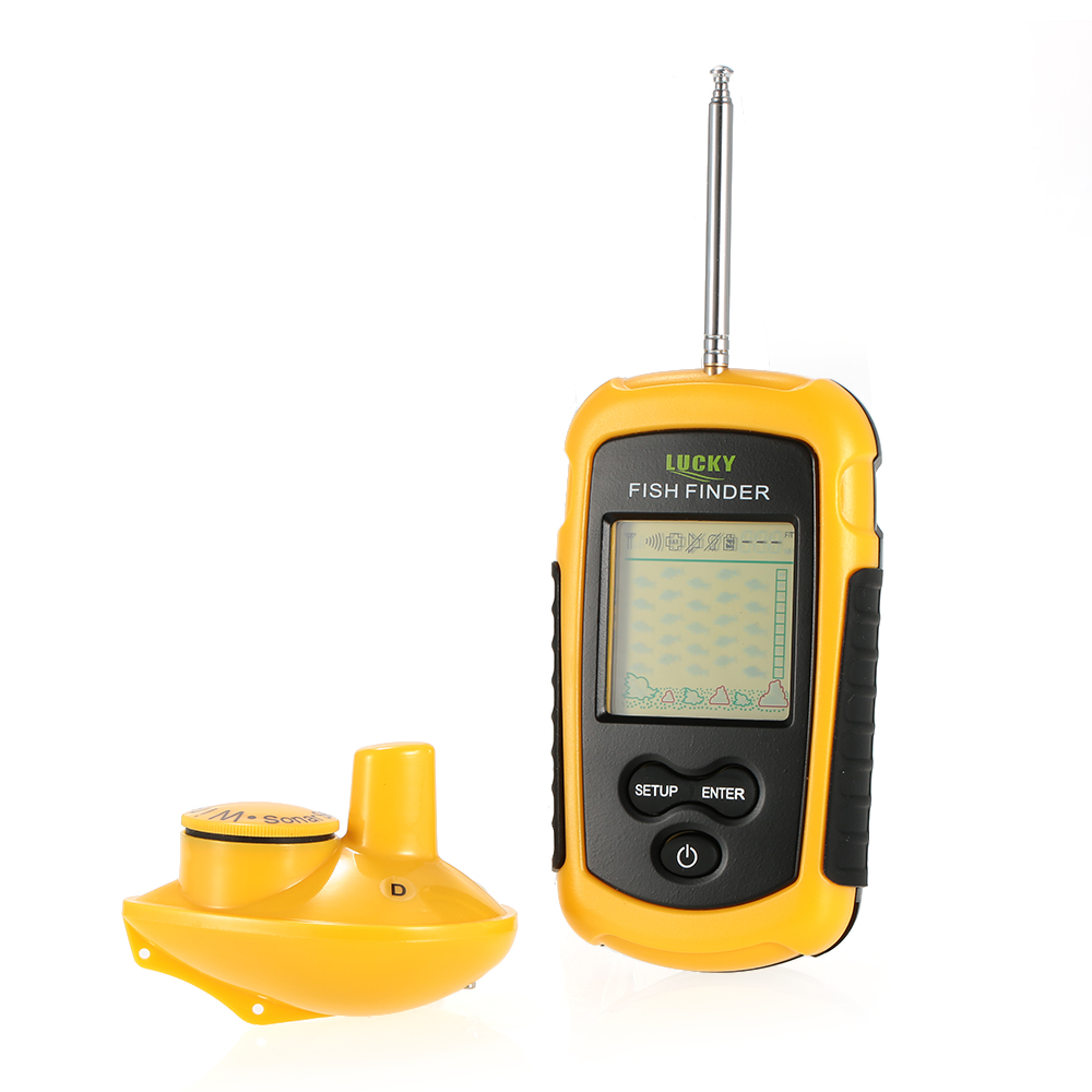 Portable Wireless Fish Finder Sonar Sensor Transducer Depth Fishing Finder Alarm Fish Identifier Detector with Neck