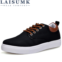 LAISUMK Spring Summer Shoes Men 2019 New Arrival Men Sneakers Comfortable Lace-Up Brand Mens Shoes Casual Canvas Men Shoes men s sneakers summer spring canvas leather breathable mesh mens brand running shoes comfortable lace up men sports shoes 13