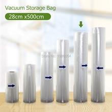 YiYuXuan 28 cm * 500 cm 1 Rollo de bolsas de vacío para alimentos de sellador Al Vacío envasador de vacío En General mantener fresco más de 6 veces