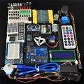 Uno Super Aprendizagem Kit com fonte de Alimentação 9V-1A, LCD, Servo, protótipo para Arduino UNO R3
